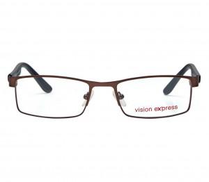 Full Rim Metal Rectangle Gun Metal Medium Vision Express 29473 Eyeglasses