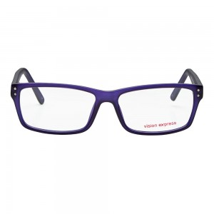 Full Rim Polycarbonate Rectangle Clear Crystal Large Vision Express 29470 Eyeglasses