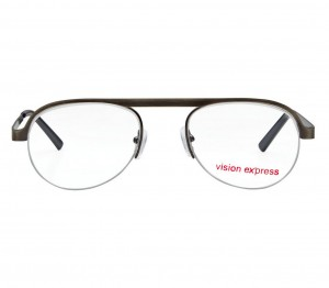 Half Rim Metal Oval Gun Metal Medium Vision Express 29471 Eyeglasses