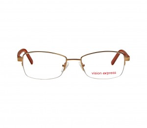 Half Rim Metal Oval Gold Medium Vision Express 31811 Eyeglasses