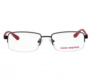 Half Rim Metal Oval Black Medium Vision Express 31811 Eyeglasses