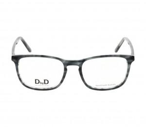 Full Rim Acetate Rectangle Grey Medium DbyD DBJM05 Eyeglasses