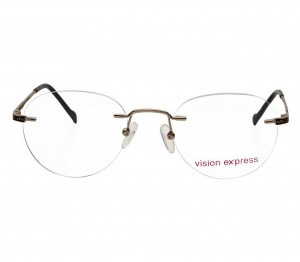 Rimless Metal Aviator Gold Medium Vision Express 31812 Eyeglasses