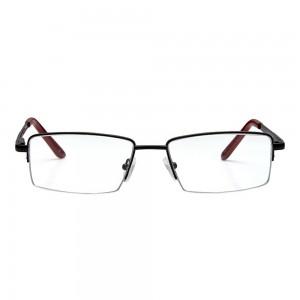 Half Rim Metal Rectangle Black Medium Vision Express 12044 Eyeglasses