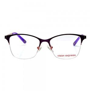 Half Rim Metal Oval Purple Medium Vision Express 49027 Eyeglasses