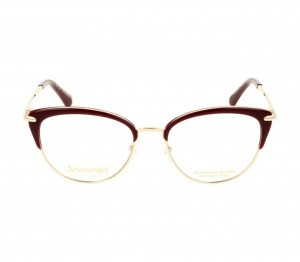 Full Rim Stainless Steel Round Red Medium Sensaya SYJF27 Eyeglasses