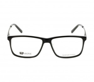 Full Rim Acetate Rectangle Black Large 5th Avenue FAJM09 Eyeglasses