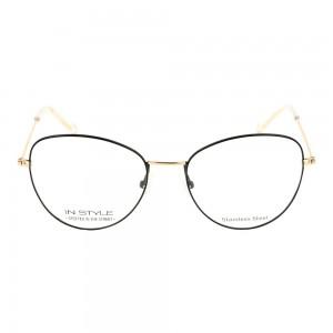 Full Rim Stainless Steel Cat Eye Black Small In Style ISJF02 Eyeglasses