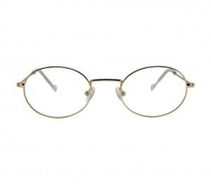 Full Rim Stainless Steel Oval Gold Medium In Style ISJF03 Eyeglasses