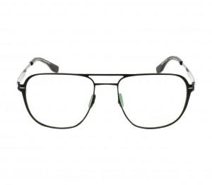 Full Rim Stainless Steel Rectangle Black Large Julius JUIM00 Eyeglasses