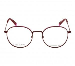 Full Rim Stainless Steel Round Red Small Miki Ninn MNJF03 Eyeglasses