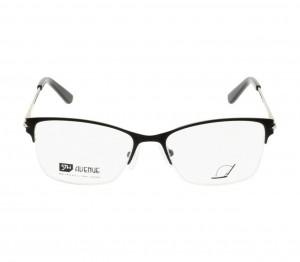Half Rim Stainless Steel Rectangle Black Medium 5th Avenue FAFF02 Eyeglasses
