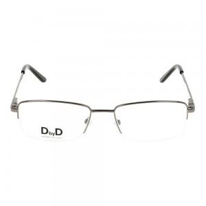 Half Rim Monel Rectangle Grey Medium DbyD DBJM06 Eyeglasses
