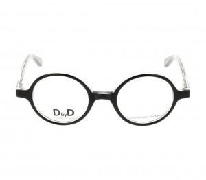 Full Rim Acetate Round Black Small DbyD DBJU03 Eyeglasses