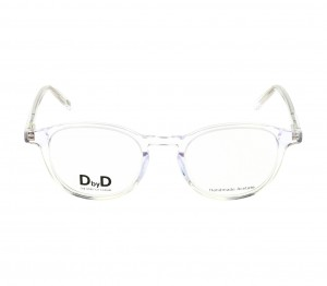 Full Rim Polycarbonate Round Clear Crystal Medium DbyD DBJU08 Eyeglasses