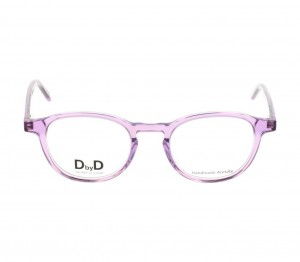 Full Rim Acetate Round Violet Medium DbyD DBJU08 Eyeglasses