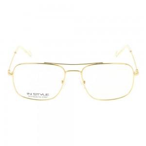 Full Rim Monel Rectangle Gold Medium In Style ISJM08 Eyeglasses