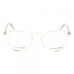 Full Rim Acetate Round Clear Crystal Small Miki Ninn MNJM10 Eyeglasses
