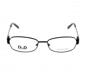 Full Rim Monel Almond Black Medium DbyD DBCF03 Eyeglasses