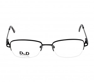 Half Rim Monel Almond Black Medium DbyD DBDF08 Eyeglasses