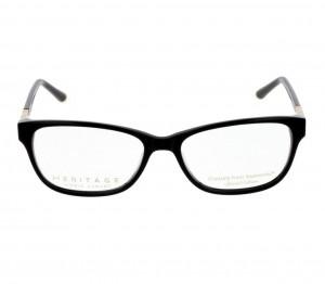 Full Rim Acetate Almond Black Medium Heritage HECF16 Eyeglasses