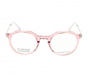 Full Rim Acetate Round Pink Medium In Style ISHF04 Eyeglasses