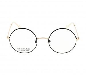 Full Rim Monel Round Black Medium In Style ISHF11 Eyeglasses