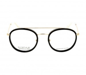 Full Rim Acetate Round Black Medium In Style ISHF28 Eyeglasses