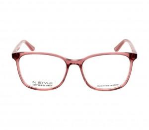 Full Rim Acetate Rectangle Pink Medium In Style ISHF33 Eyeglasses