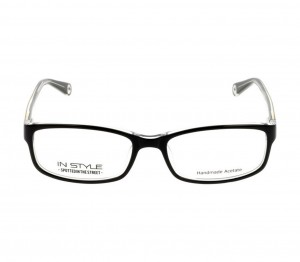Full Rim Acetate Rectangle Gold Medium In Style ISHF34 Eyeglasses