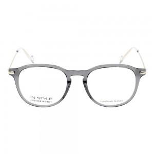 Full Rim Polycarbonate Rectangle Grey Medium In Style ISHM01 Eyeglasses