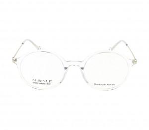 Full Rim Acetate Round Silver Medium In Style ISHM02 Eyeglasses