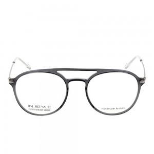 Full Rim Acetate Round Grey Medium In Style ISHM03 Eyeglasses