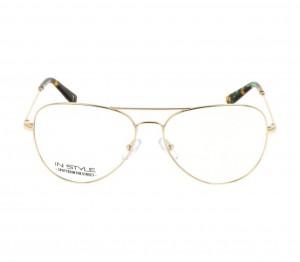 Full Rim Nickel Silver Aviator Gold Large In Style ISHM38 Eyeglasses