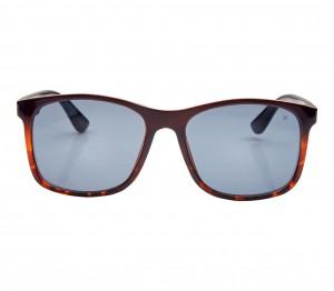 Rectangle Brown Polycarbonate Full Rim Medium Vision Express 21686 Sunglasses