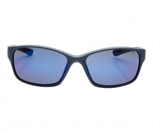 Rectangle Blue Mirror Polycarbonate Full Rim Medium Vision Express 21690 Sunglasses