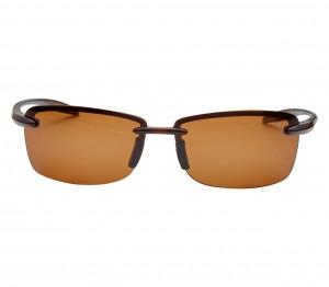 Rectangle Polarised Lens Brown Solid Rimless Medium Vision Express 21701P Sunglasses