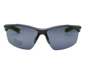 Rectangle Grey Polycarbonate Half Rim Medium Vision Express 81126 Sunglasses