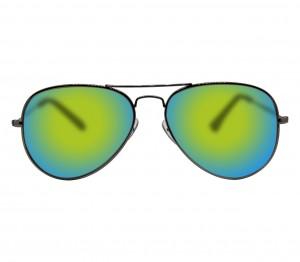 Aviator Orange Mirror Nickel Silver  Full Rim Medium Vision Express 12061 Sunglasses