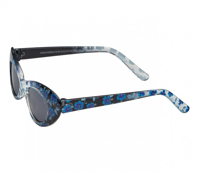 Cat eye Grey Polycarbonate Small Vision Express 51113 Kids Sunglasses