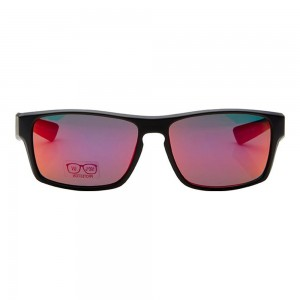 Rectangle Red Mirror Polycarbonate Full Rim Medium Vision Express 21704 Sunglasses