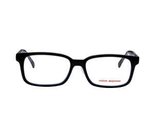 Full Rim Polycarbonate Rectangle Black Medium Vision Express 12055 Eyeglasses