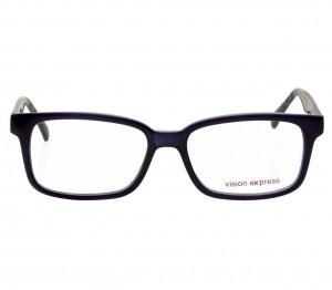 Full Rim Polycarbonate Rectangle Blue Medium Vision Express 12055 Eyeglasses