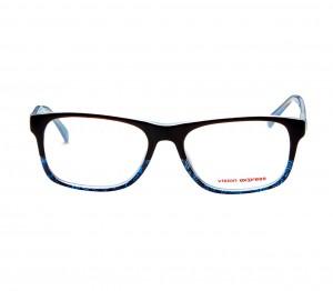Full Rim Polycarbonate Rectangle Black Large Vision Express 29487 Eyeglasses