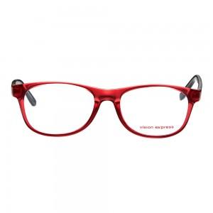 Full Rim Polycarbonate Round Wine Medium Vision Express 12056 Eyeglasses