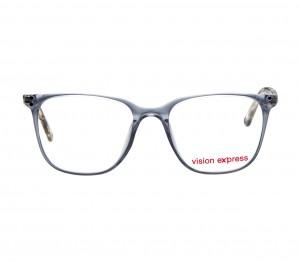 Full Rim Polycarbonate Square Grey Medium Vision Express 12057 Eyeglasses
