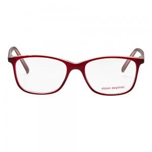 Full Rim Polycarbonate Rectangle Wine Medium Vision Express 12062 Eyeglasses