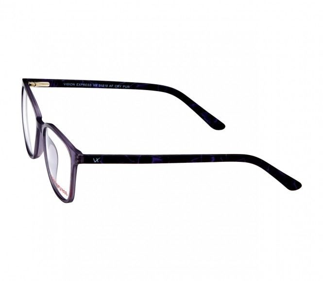 Full Rim Polycarbonate Rectangle Purple Medium Vision Express 31819 Eyeglasses