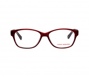 Full Rim Polycarbonate Oval Wine Medium Vision Express 31820 Eyeglasses