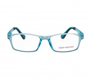 Square Blue Polycarbonate Large Vision Express 61318 Kids Eyeglasses